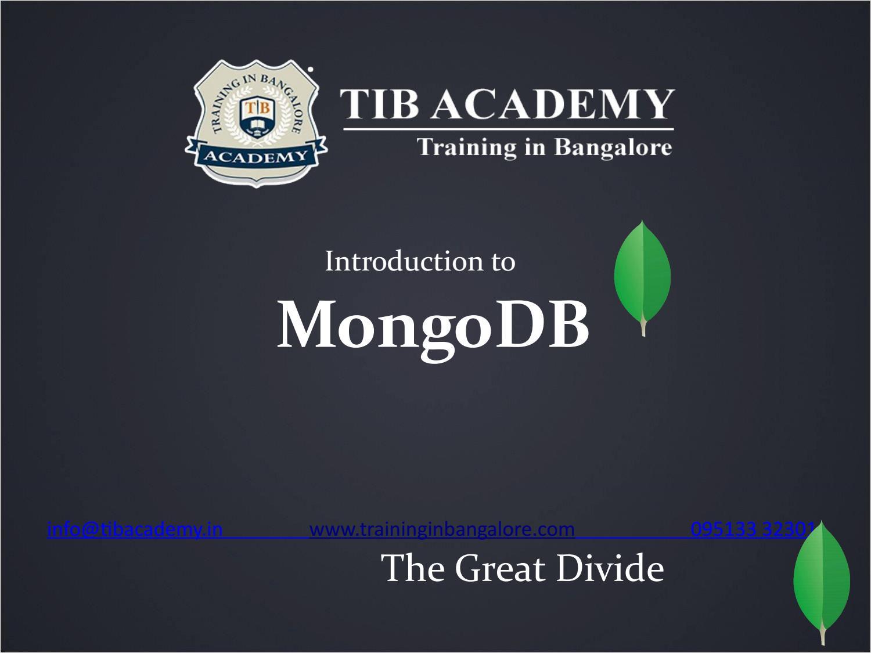 Mongodb Tutorial Training by tibacademy - issuu