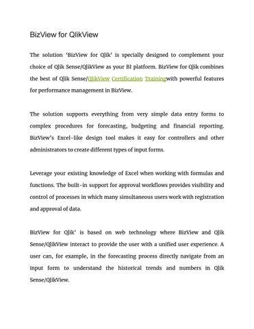 Bizview for qlikview google docs by sarahjohn - issuu