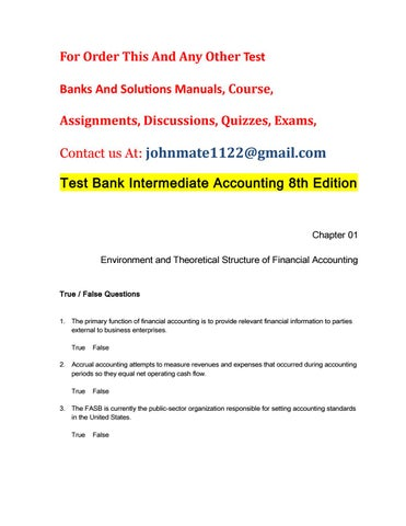 Test bank intermediate accounting 8th edition by LewisPipkin