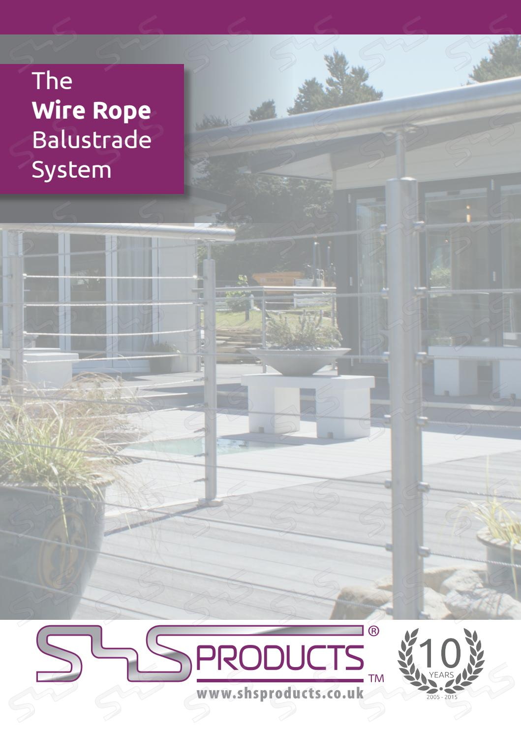 SHS Products Wire Rope Balustrade Brochure by SHS Products - issuu