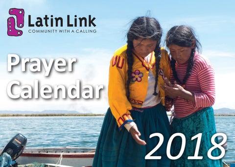 Latin Link Prayer Calendar 2018 by Latin Link - issuu