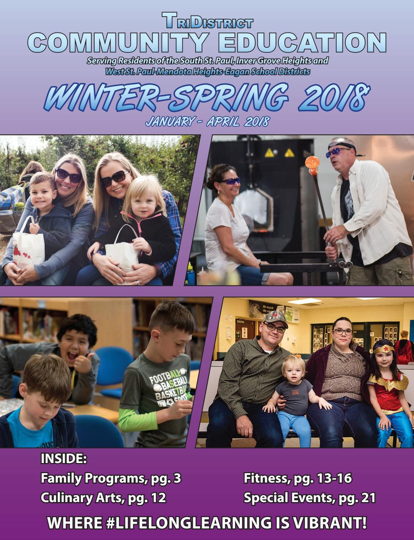 2018 Winter-Spring TriDistrict Community Education Adult Catalog ...