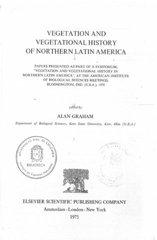 Ve ation and ve ational history of Northern Latin America