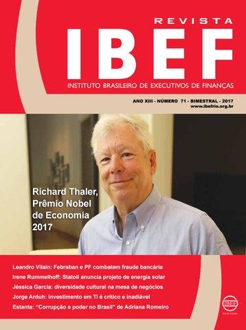 0e469292e8 INSTITUTO BRASILEIRO DE EXECUTIVOS DE FINANÇAS ANO XIII - NÚMERO 71 -  BIMESTRAL - 2017 www.ibefrio.org.br