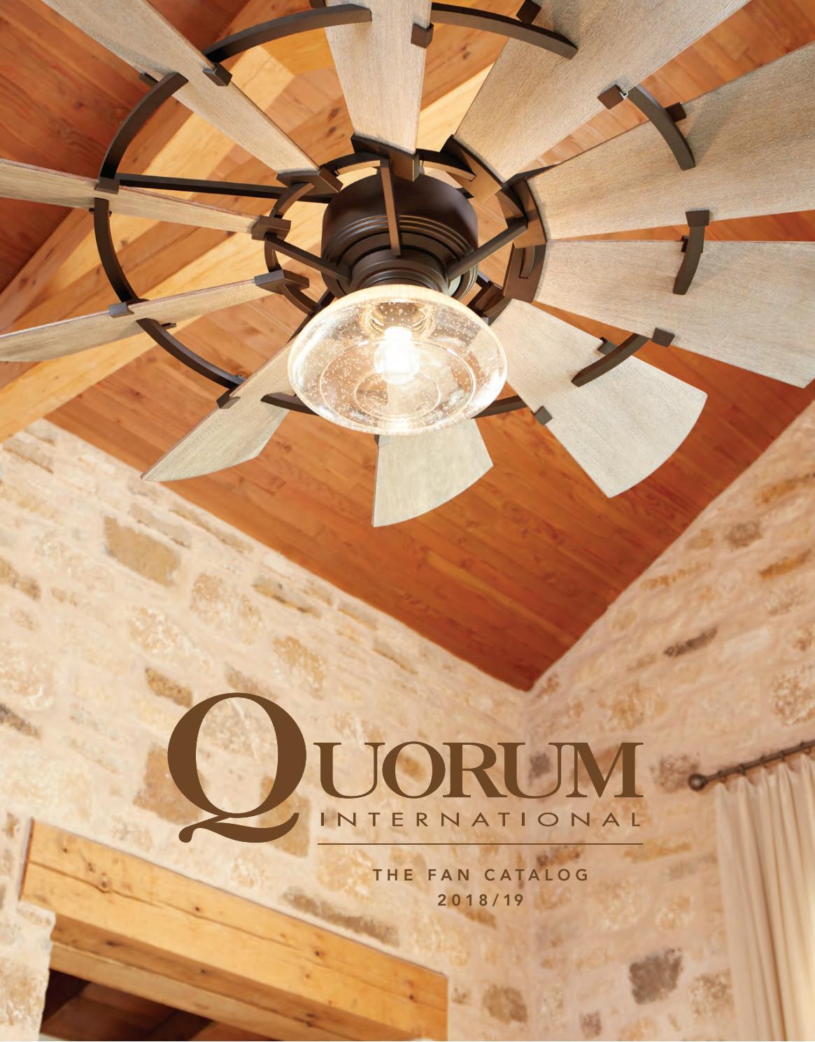 Quorum International 92413 Nickel Veranda 4 Blade Wall Mount Patio Fan