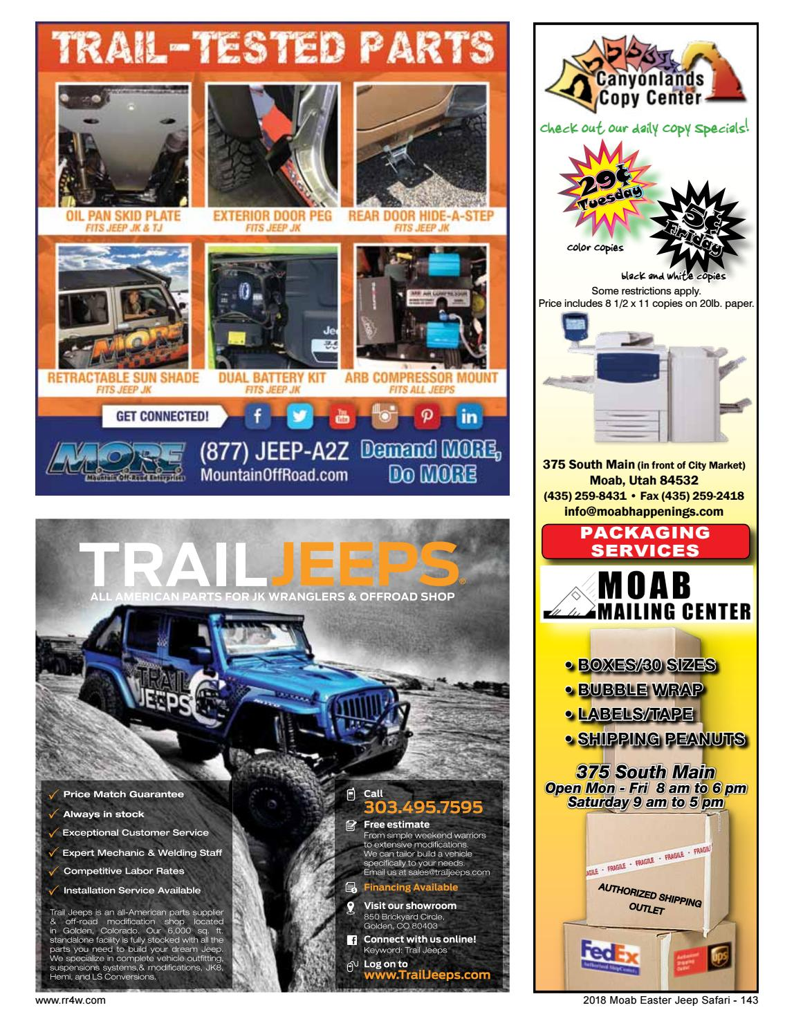 City Market Moab >> Easter Jeep Safari Magazine 2018 By Red Rock 4 Wheelers Issuu