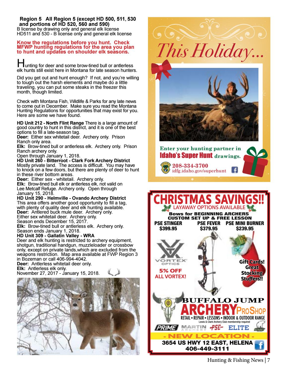 Montana Hunting & Fishing News December 2017 by Amy Haggerty