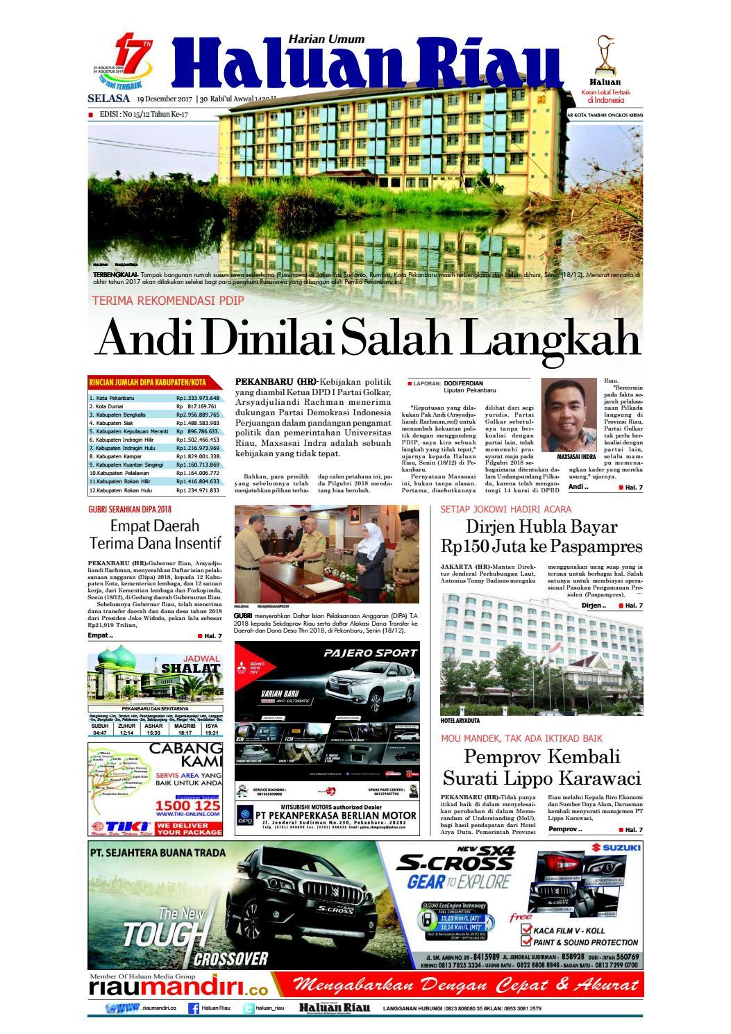Haluanriau 2017 12 19 By Haluan Riau Issuu