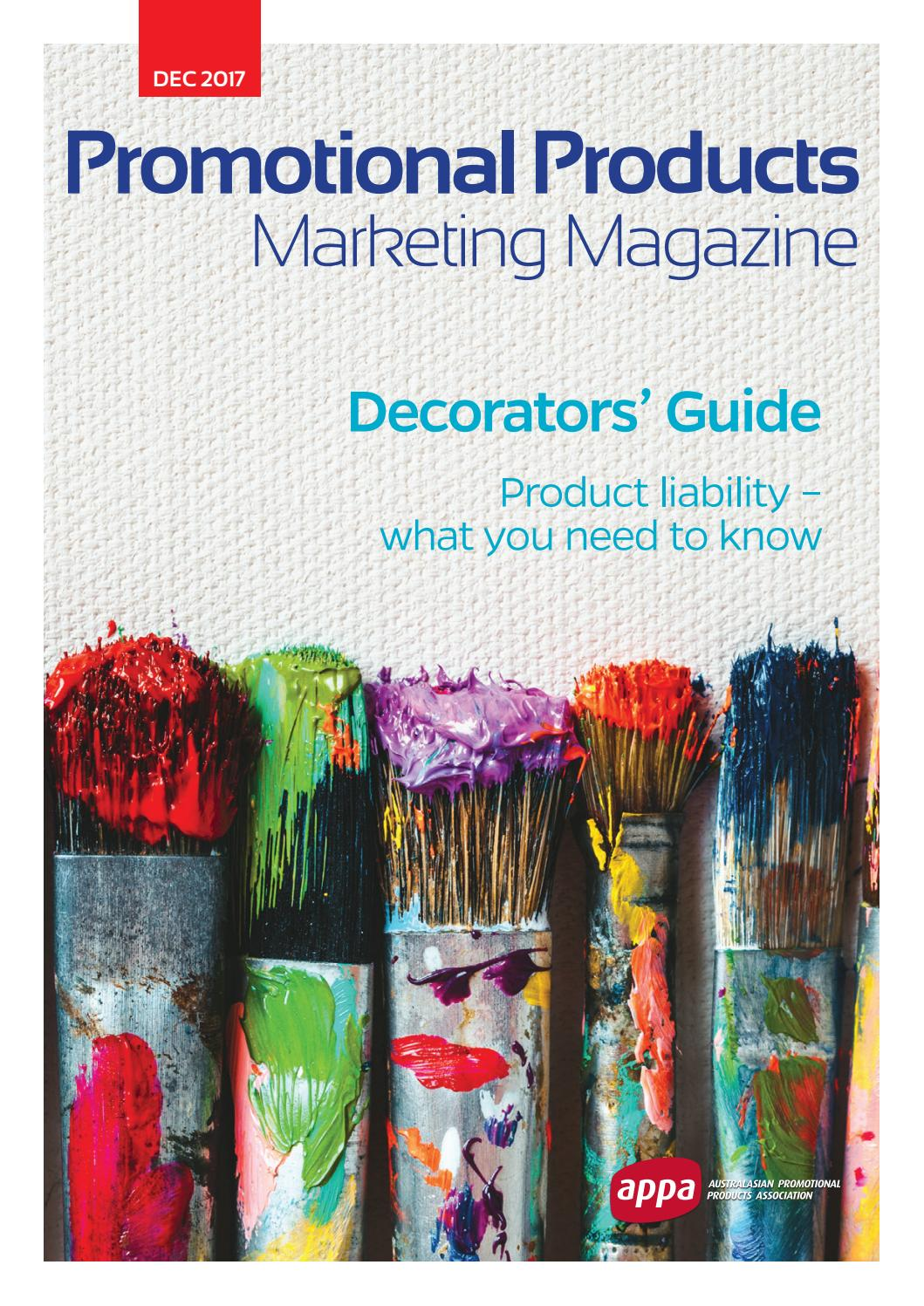 f951d391c APPA Promotional Products Marketing Magazine Dec 2017 by Promotional ...