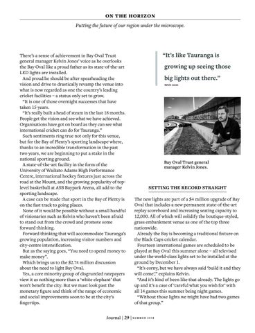 Page 31 of Sporting Infrastructure will Help Light Up the Bay of Plenty's Future