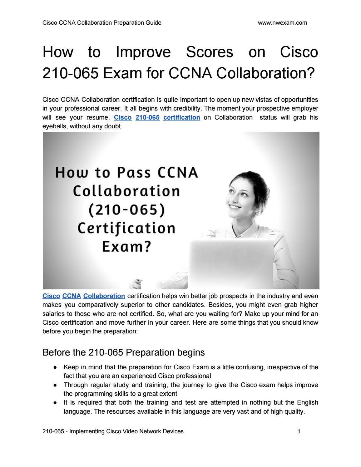How To Improve Scores On Cisco 210 065 Exam For Ccna Collaboration