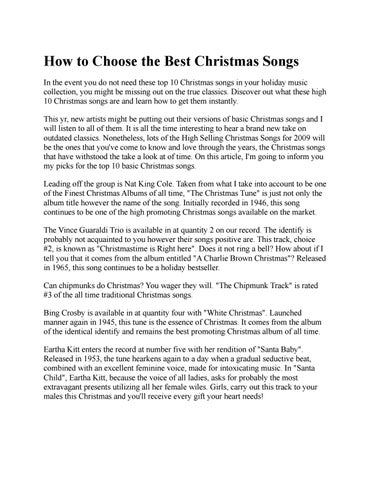 how to choose the best christmas songs in the event you do not need these top 10 christmas songs in your holiday music collection you might be missing out - Christmas Songs By Black Artists