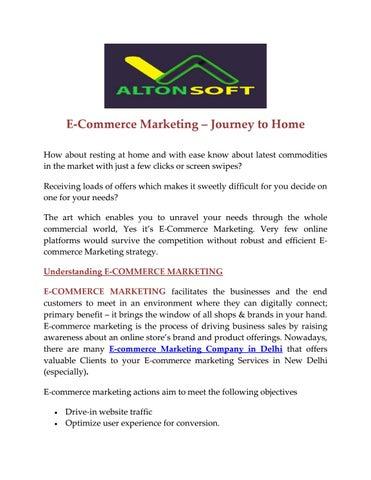 E commerce marketing company in delhi by altonsoft - issuu