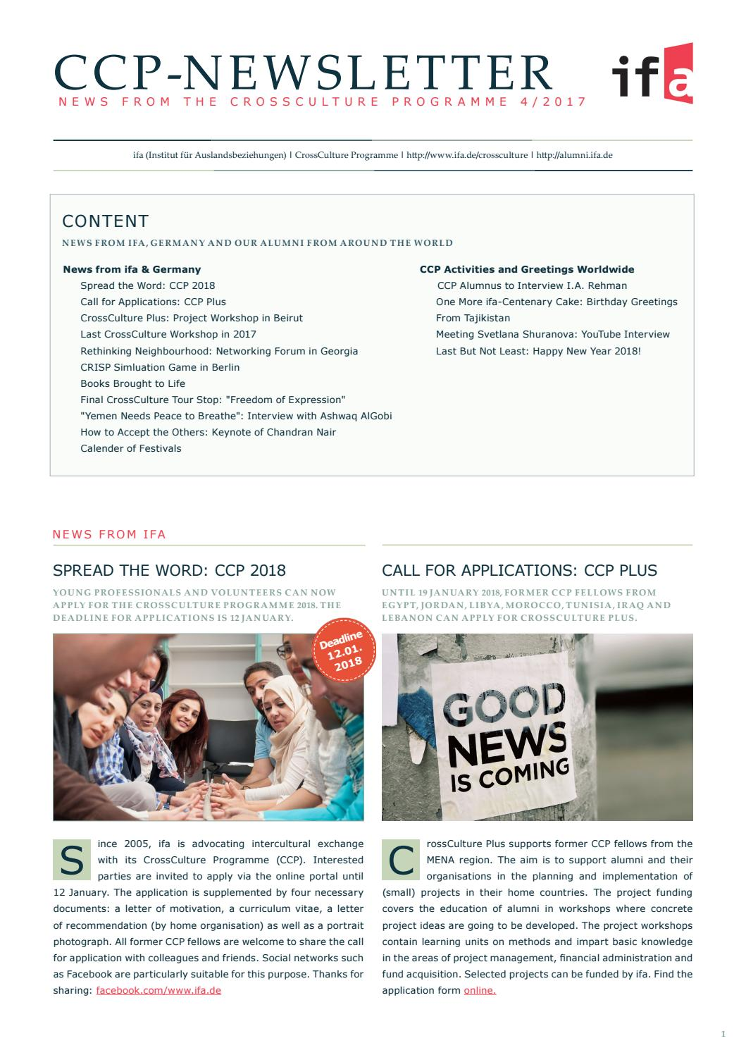 CCP Newsletter 4/2017 by Wolfgang Kuhnle - issuu