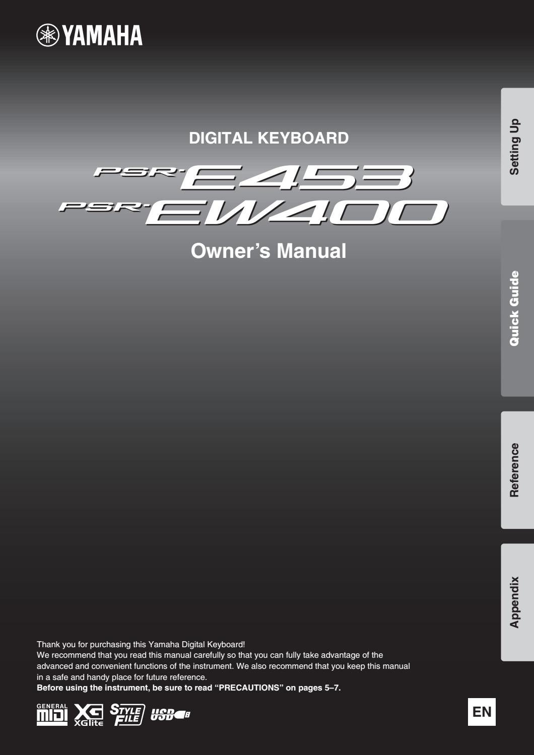 Manual Of Digital Keyboard Yamaha Psr E453 And Ew400 By Arzt Issuu Fc5 Pedal Wiring Diagram