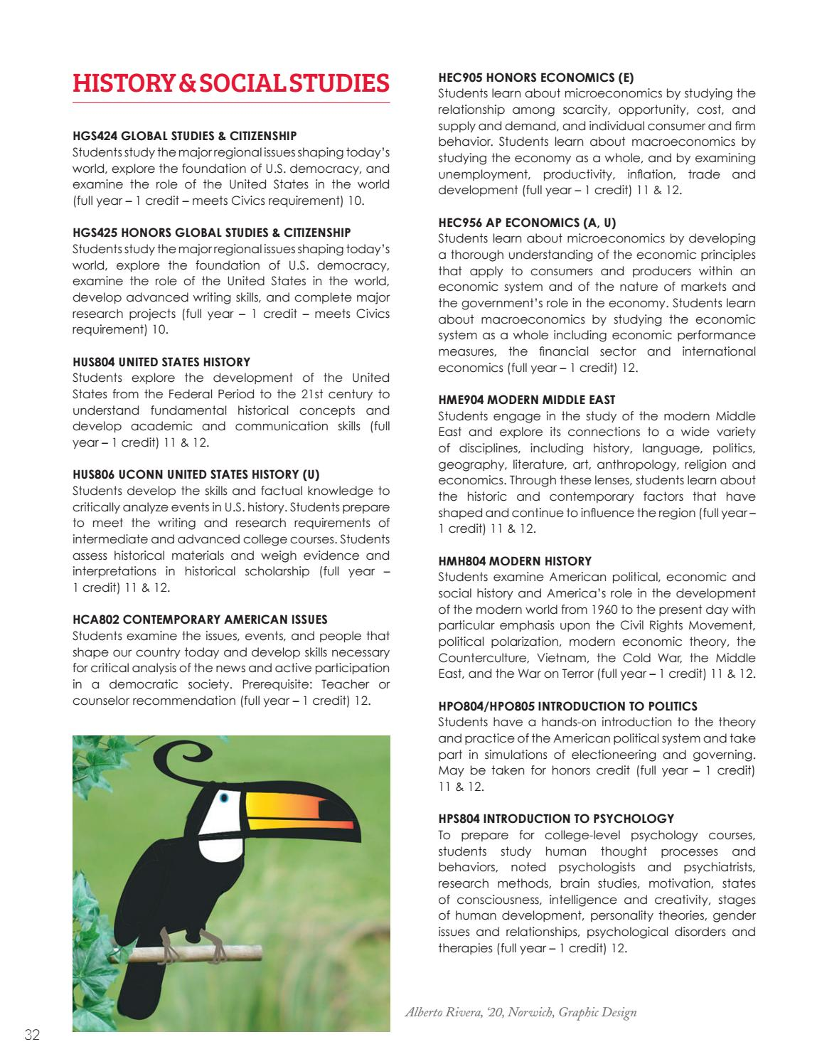 2018 19 Nfa Course Catalog By Norwich Free Academy Issuu