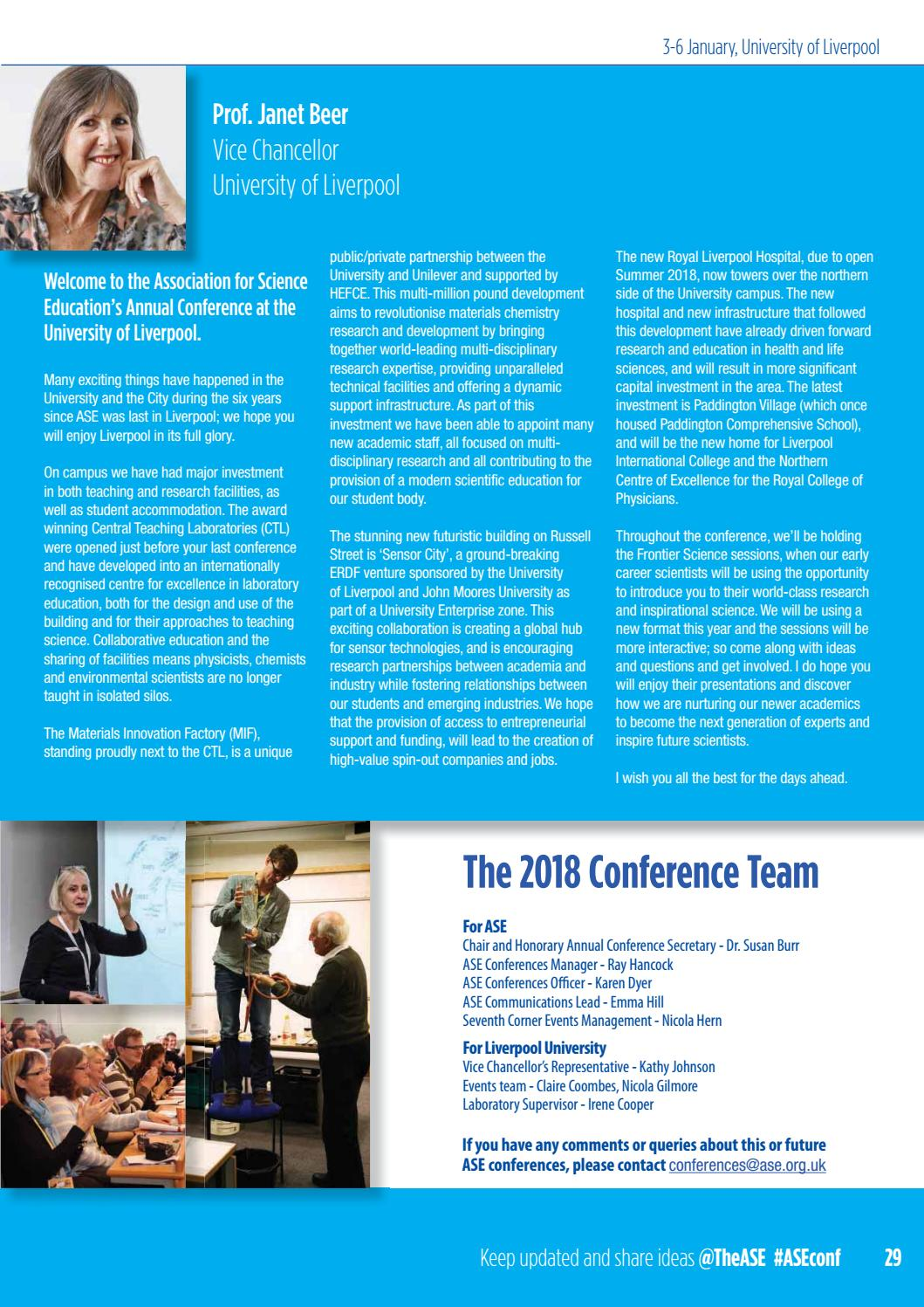 ASE Annual Conference Handbook 2018 by The Association for