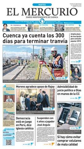 hemeroteca 19-12-2017 by Diario El Mercurio Cuenca - issuu 8a47675f351