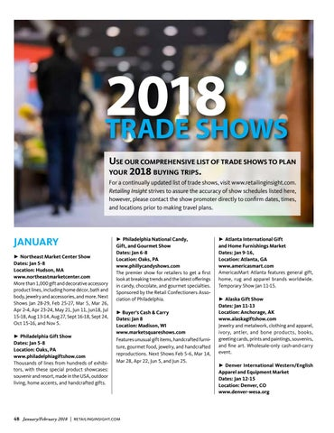Page 50 of 2018 Trade Shows
