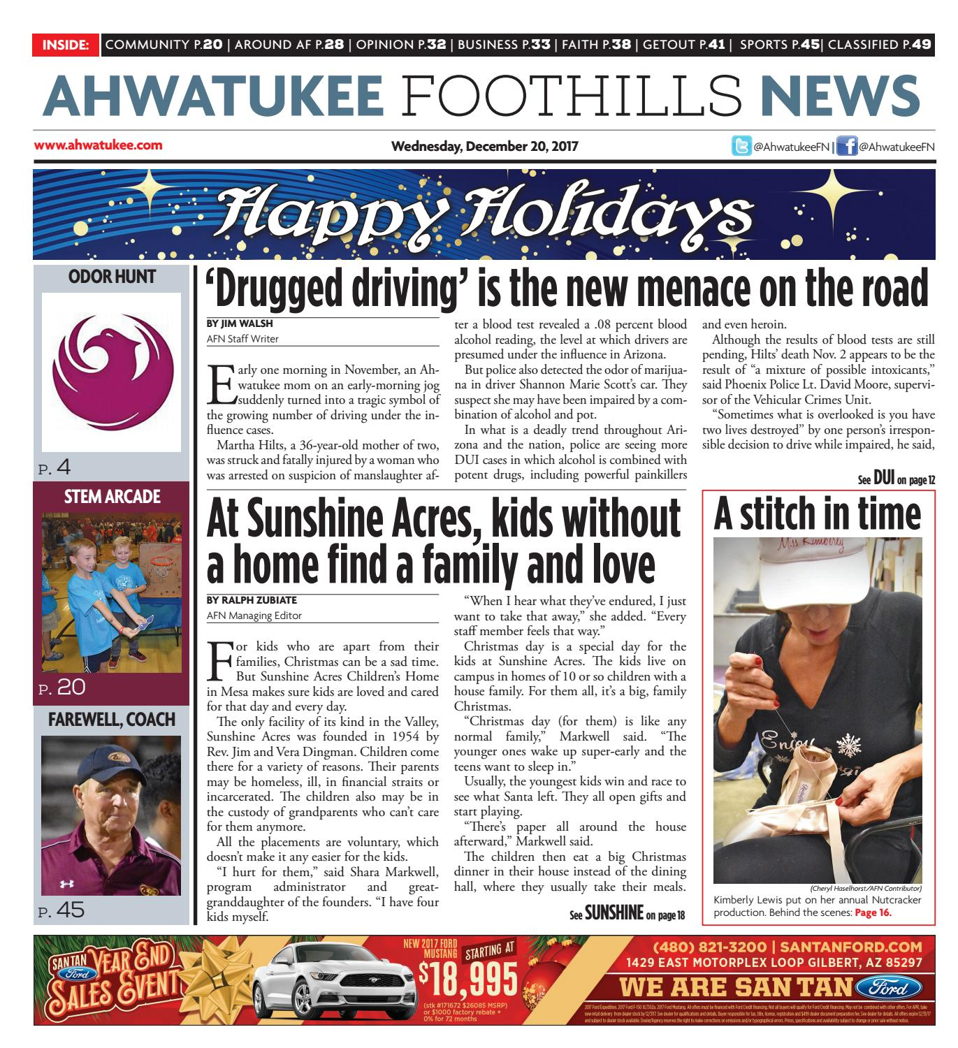 0cdce1111d4f4 Ahwatukee Foothills News - December 20, 2017 by Times Media Group - issuu