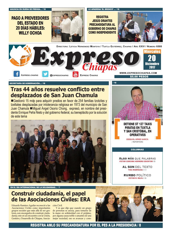 Expreso chiapas 20:12:17 by expreso chiapas - issuu
