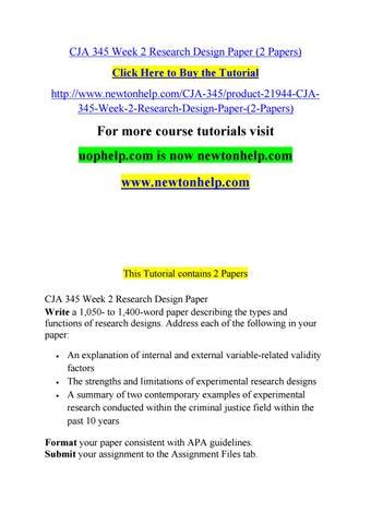 write research design paper