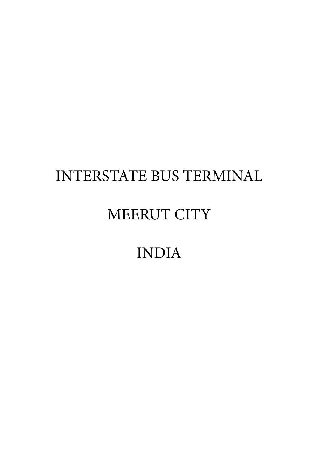 B Arch Thesis Project - ISBT Meerut City by Humair Subhani