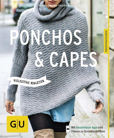 Anleitung wolle poncho dicke Poncho Stricken