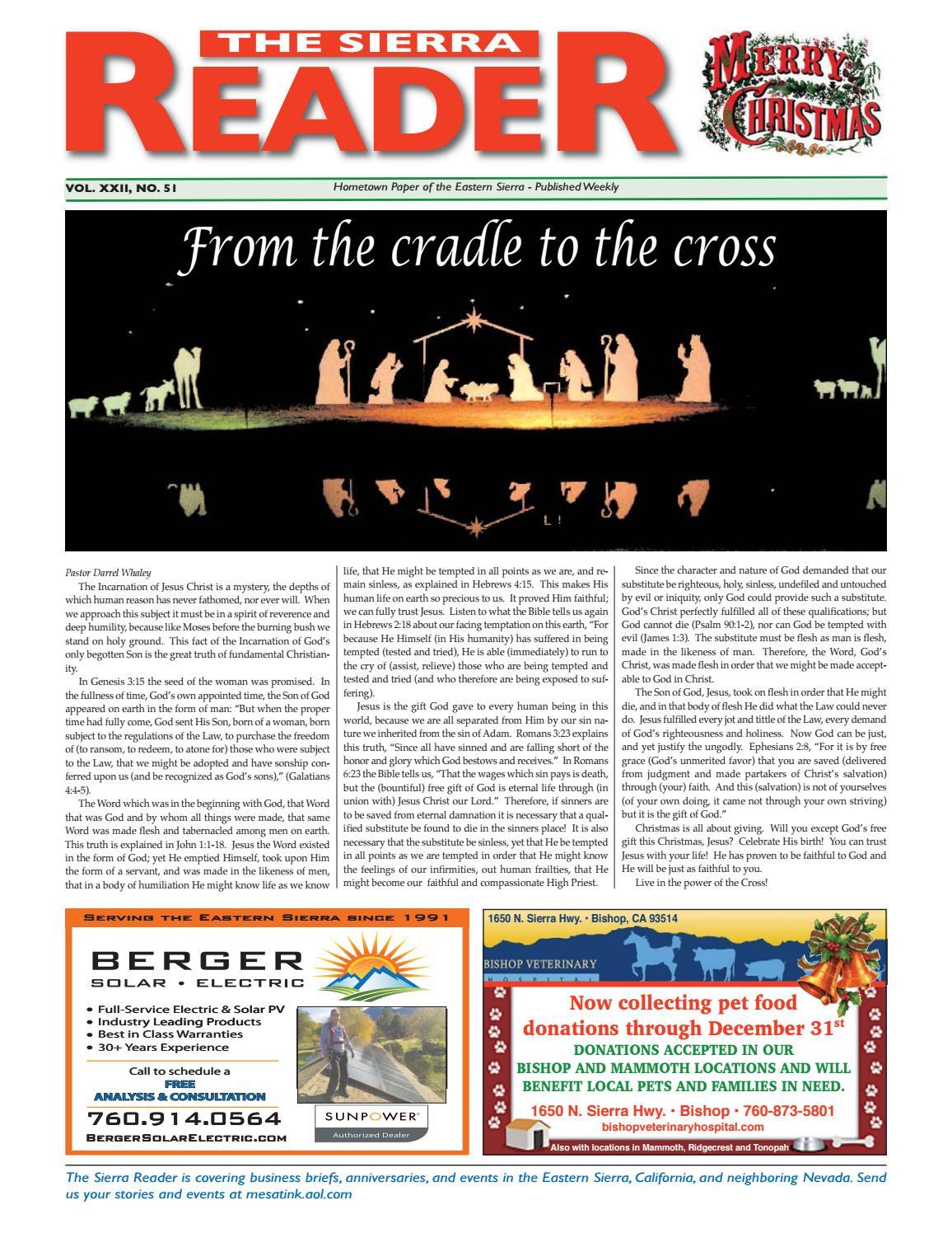 the sierra reader december 21 by The Sierra Reader - issuu