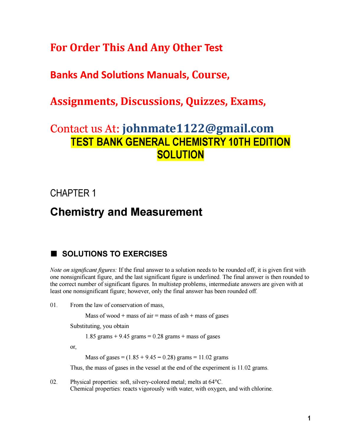 Test bank general chemistry 10th edition solution by james1shields test bank general chemistry 10th edition solution by james1shields issuu publicscrutiny Images