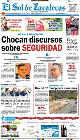 El Sol de Zacatecas 20 de diciembre 2017 by El Sol de Zacatecas - issuu 308a2cdad25e3