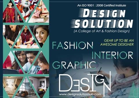 Design Solution College Fashion Designing Interior Designing Indore By Design Solution Issuu