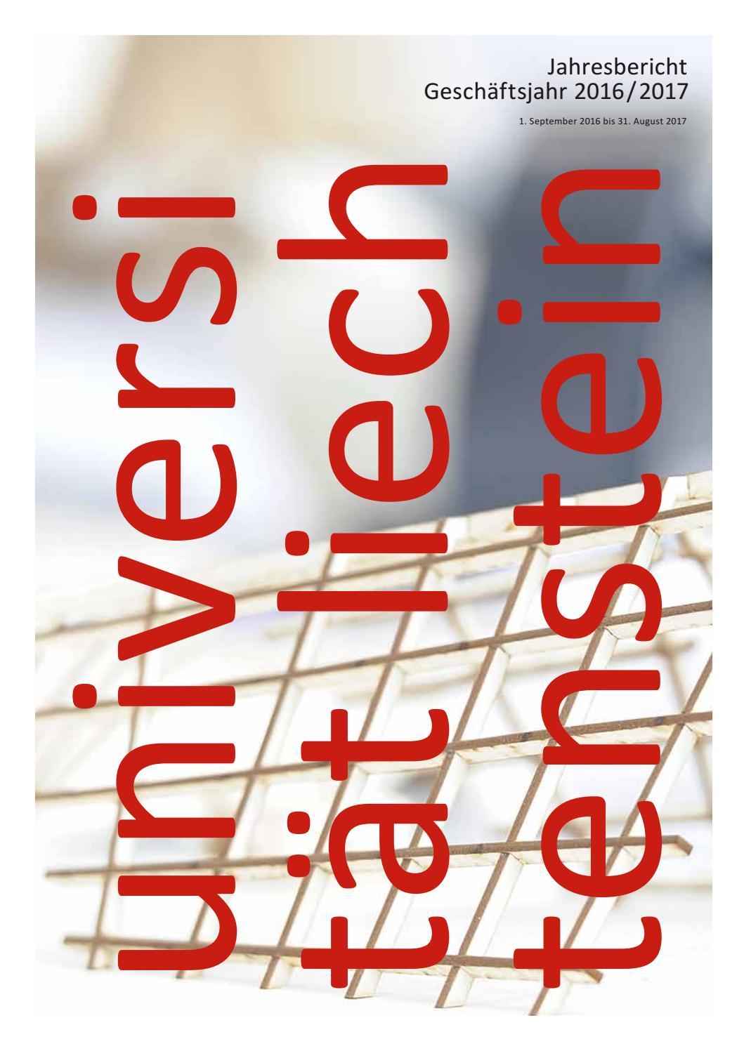 Jahresbericht 2016/2017 der Universität Liechtenstein by Universität ...