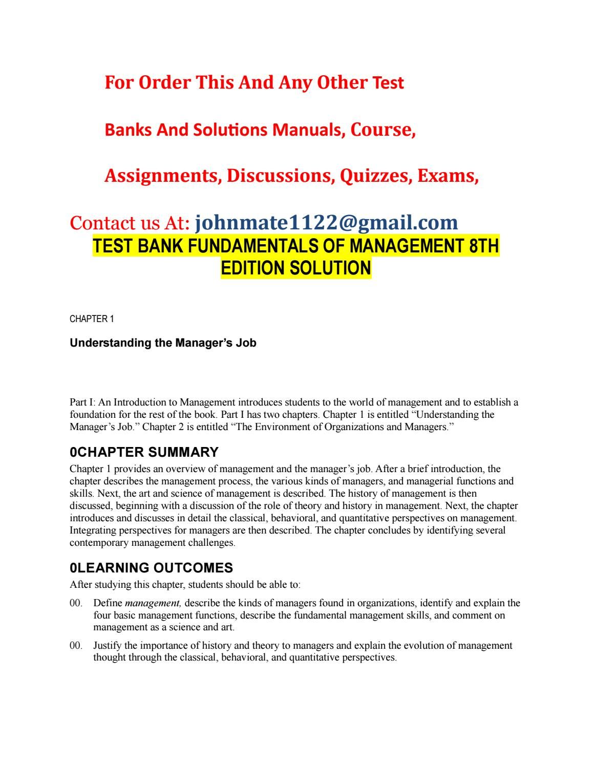 evolution of management thought assignment