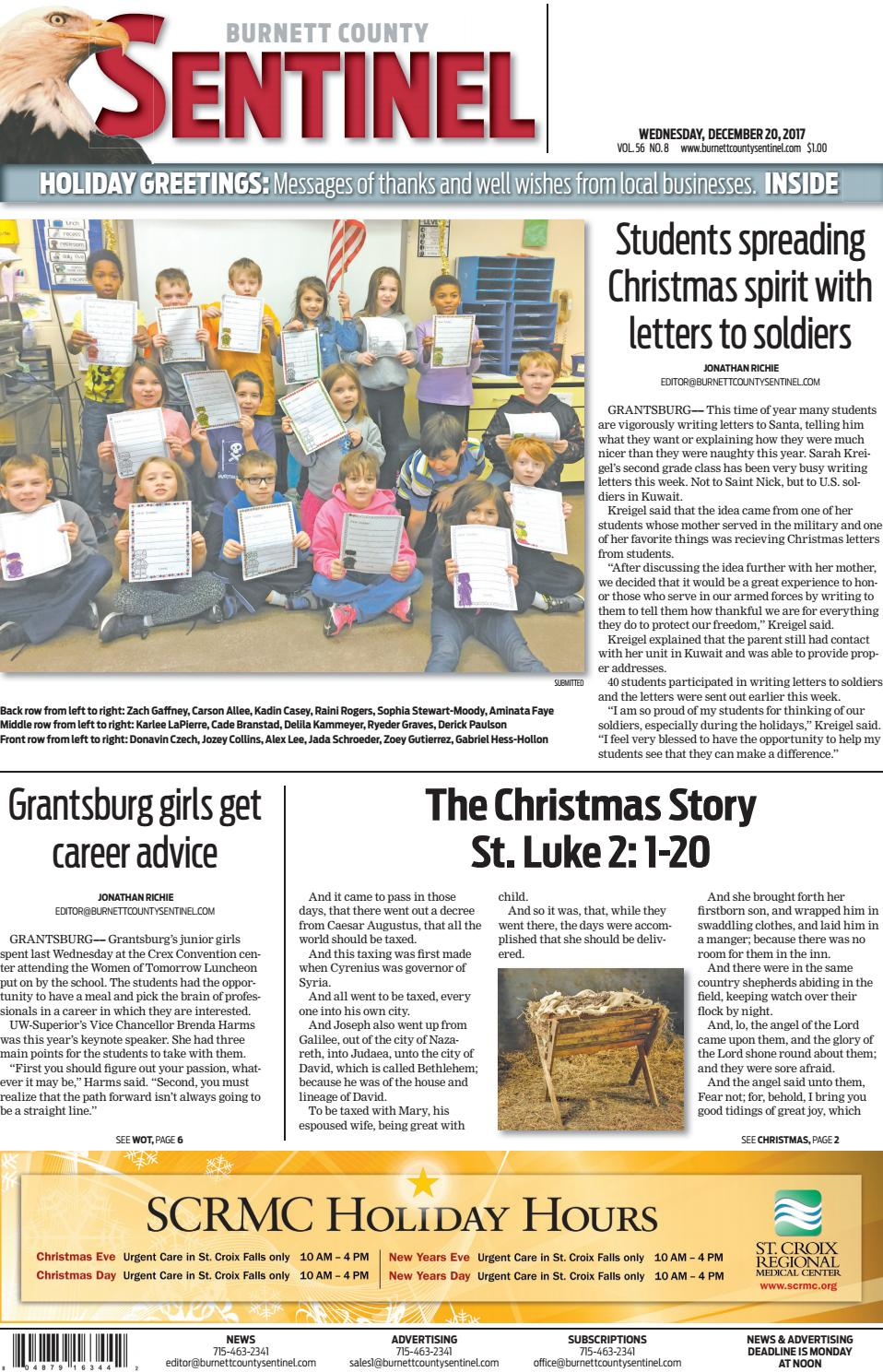 Bcs 12 20 17 by Burnett County Sentinel - issuu