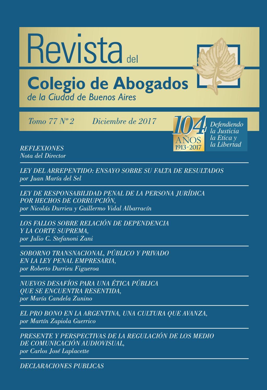 Revista 77 - Tomo 2 by Revista del Colegio de Abogados CACBA - issuu