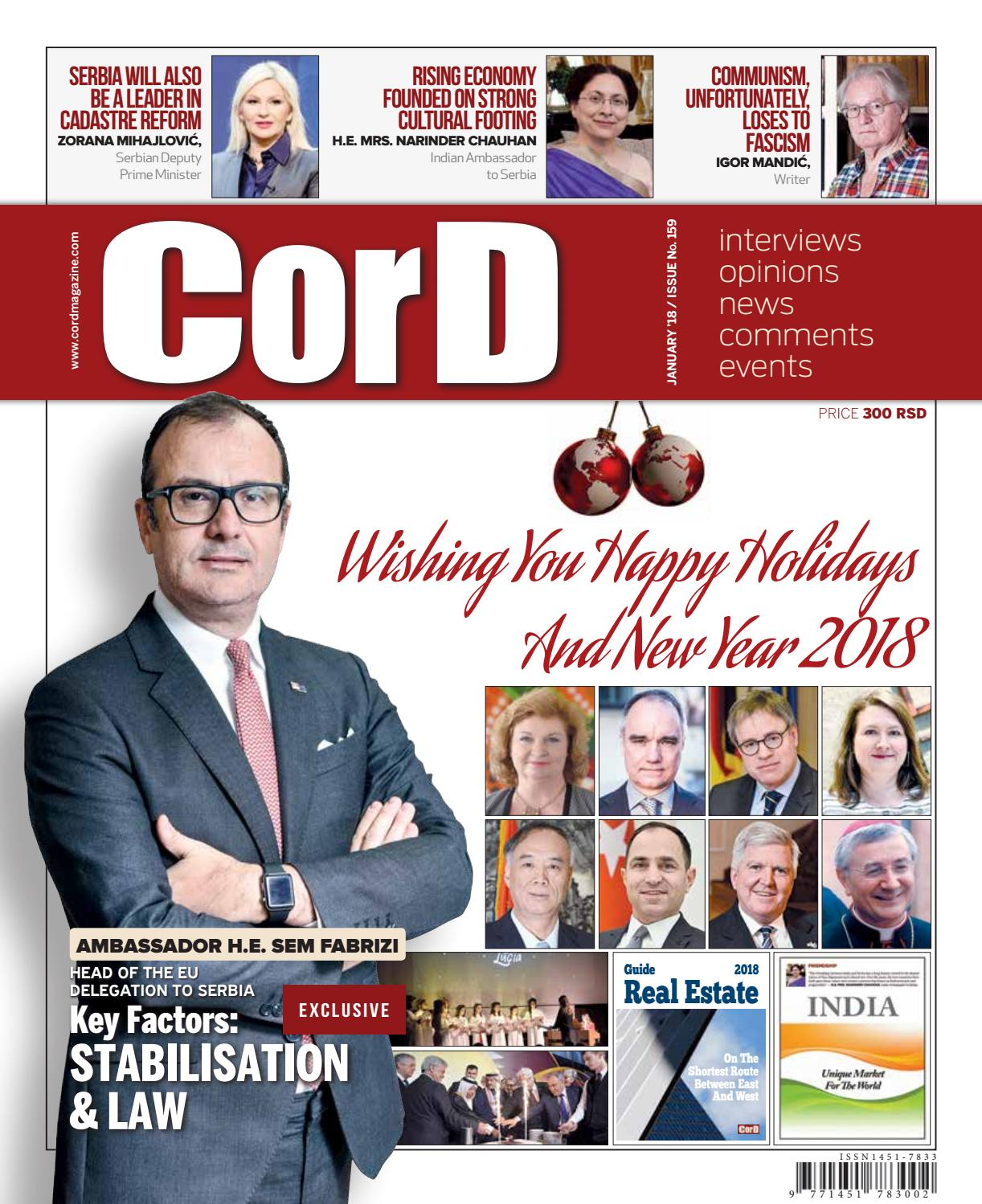 7f717801757a1 Cord Magazine January 2018 Issue