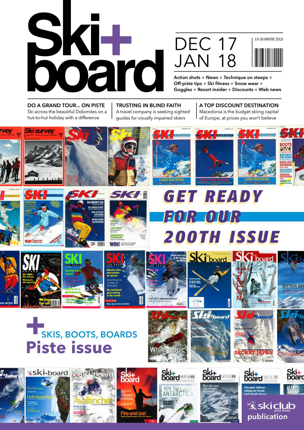 Ski+board December 2017January 2018 by Ski Club of Great