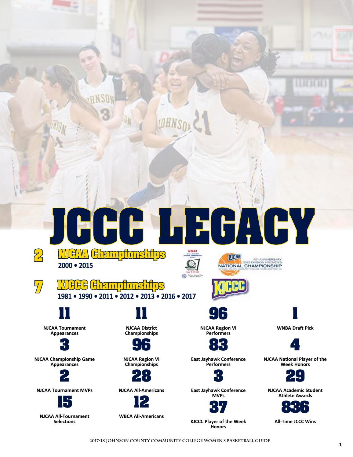 timeless design b084c 67d97 2017 18 jccc women's basketball guide by Chris Gray - issuu