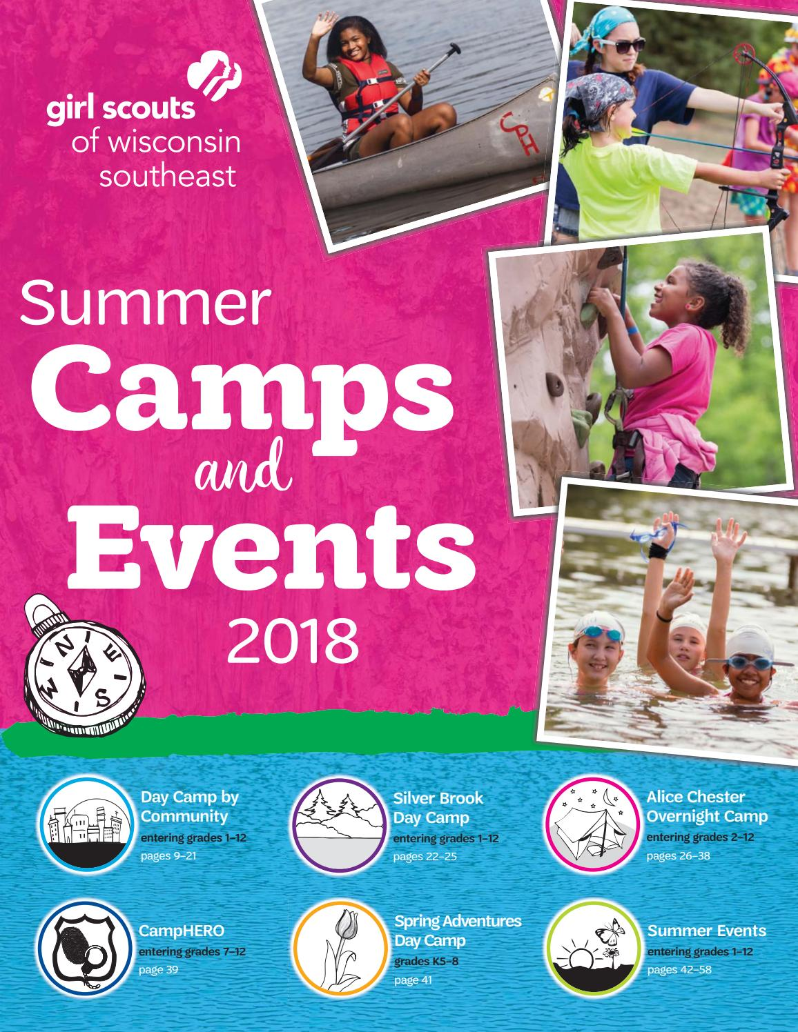 2018 Summer Camp and Events Book by Girl Scouts of Wisconsin