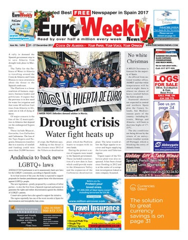 f2cf079aa5e1 Euro Weekly News - Costa de Almeria 21 - 27 December 2017 Issue 1694 ...