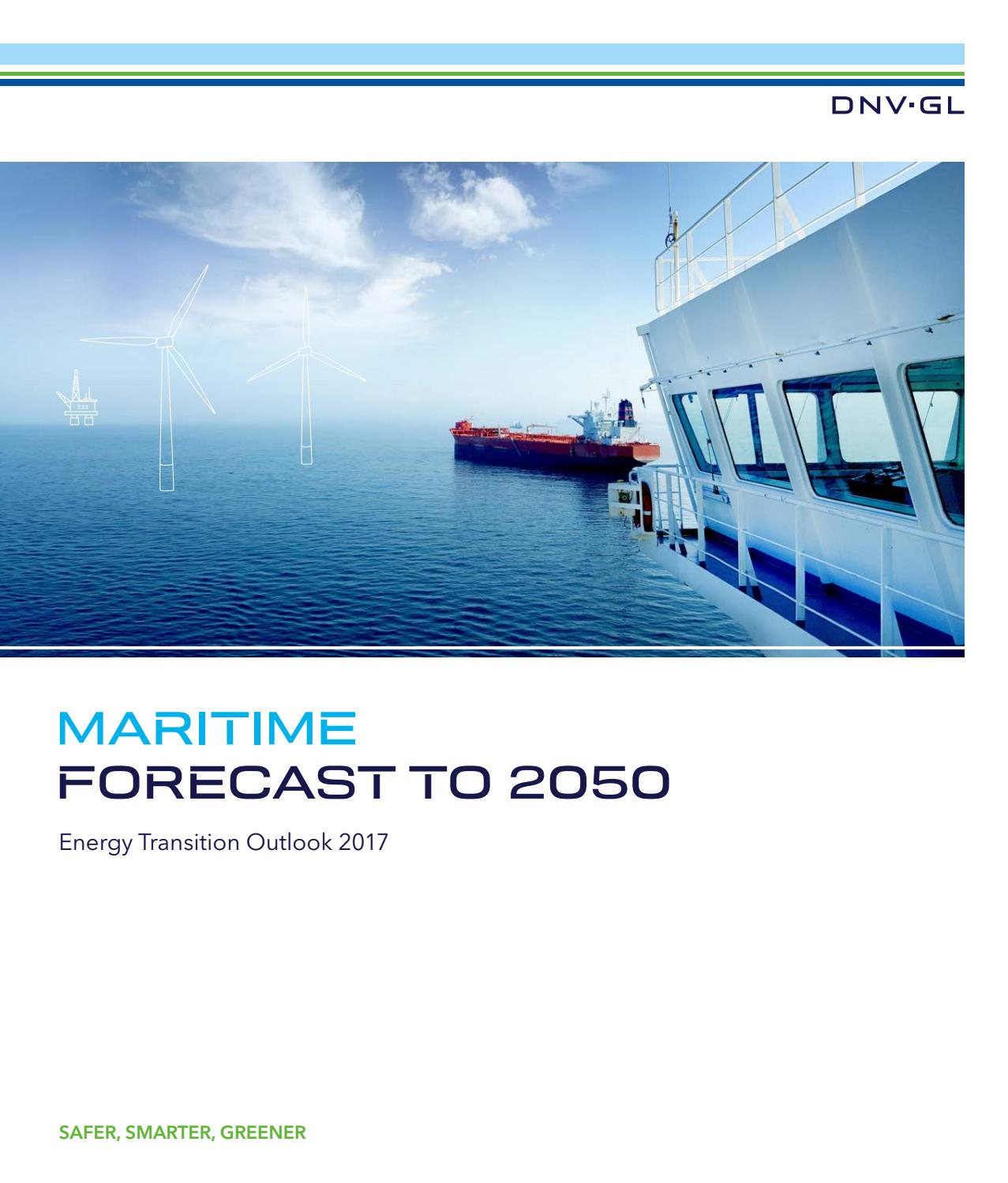 DNV GL 2017 maritime forecast to 2050 by Maritime