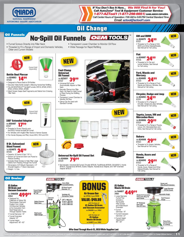 AutoZone Tool and Equipment Catalog by NIADA - issuu