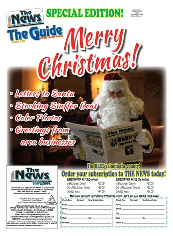 THE GUIDE 12 21 2017 by THE NEWS | Buchanan County Review - issuu