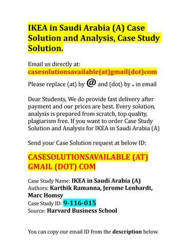 ikea case study solution