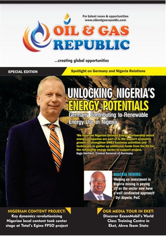 Unlocking Nigeria's Energy Potential: Germany Contributes to