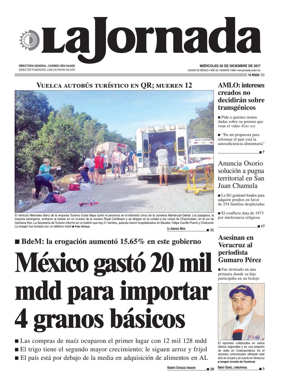 La Jornada, 12/20/2017 by La Jornada: DEMOS Desarrollo de Medios ...