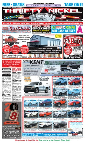 December 28 2017 issue by thrifty nickel of evansville indiana issuu page 1 fandeluxe Choice Image