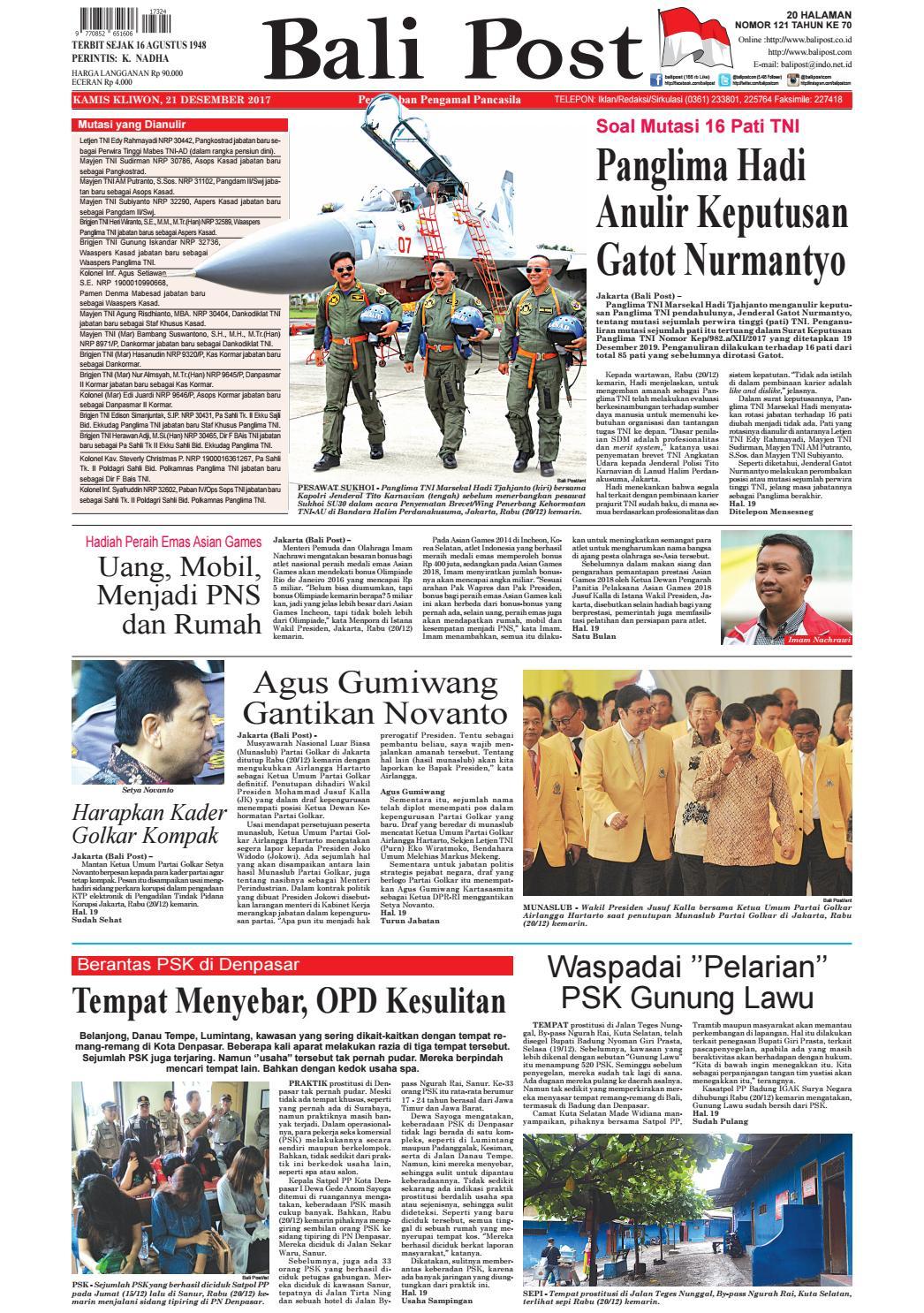 Edisi 21 Desember 2017 Balipostcom By E Paper Kmb Issuu Produk Ukm Bumn Handbody