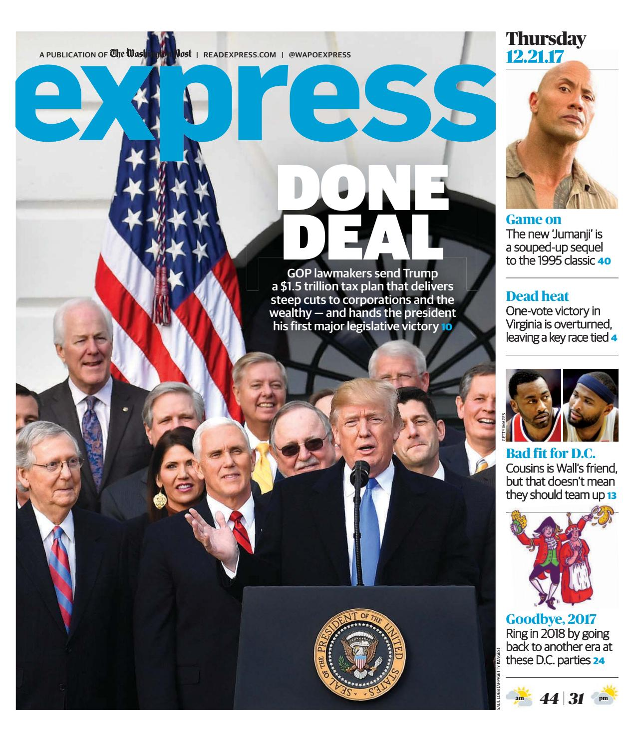 Trump Tax Plan Courts Major Backlash: EXPRESS_12212017 By Express